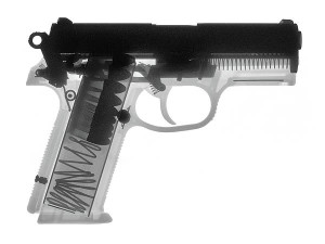 Hand gun x-ray print ray gun
