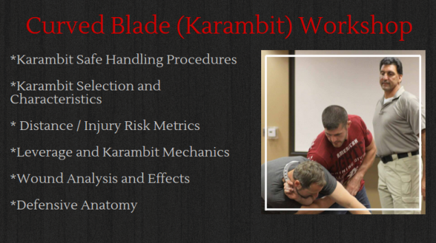 Curved Blade (Karambit) Workshop in San Diego